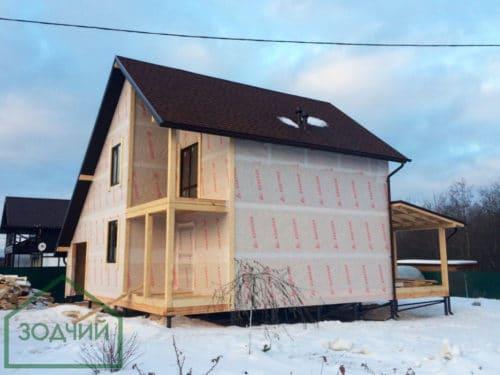 Пример монтажа крыши
