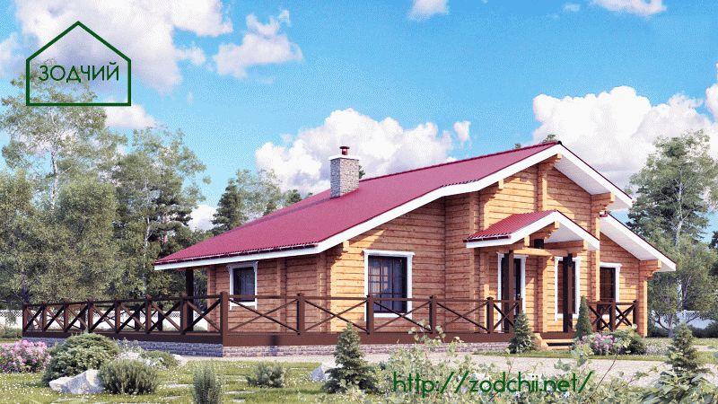 Дом из бруса 1002 Площадь: 100 м2