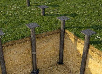 Фундамент на винтовых сваях Площадь: м2