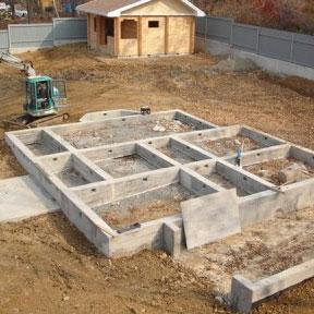 Мелкозаглубленный ленточный фундамент Площадь: м2