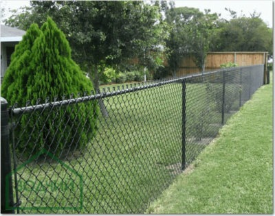Забор из сетки рабицы Площадь: м2