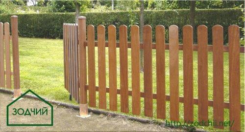 Забор из евроштакетника Площадь: м2