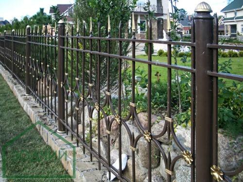 Забор стальной, кованый Площадь: м2
