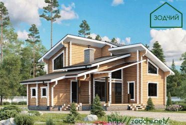 Дом из бруса 1005 Площадь: 129 м2