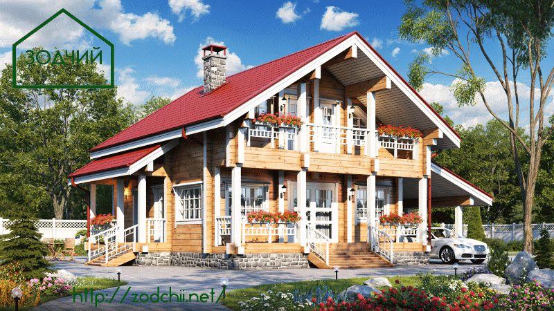 Дом из бруса 1006 Площадь: 135 м2