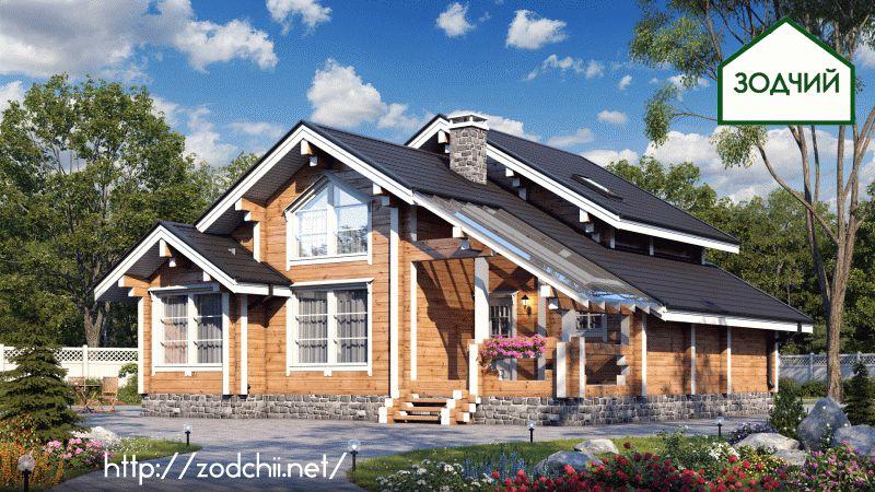 Дом из бруса 1007 Площадь: 140 м2