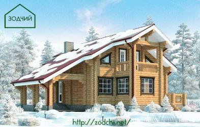 Дом из бруса 1009 Площадь: 165 м2