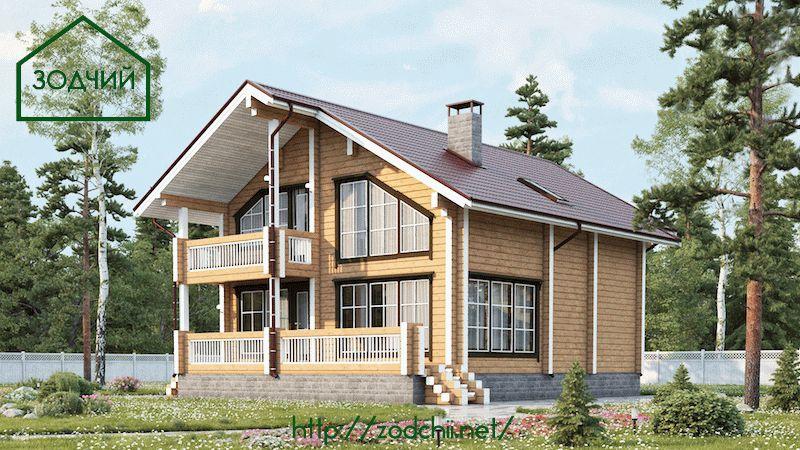 Дом из бруса 1011 Площадь: 172 м2
