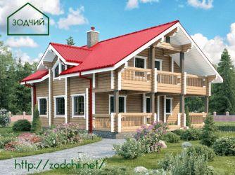 Дом из бруса 1012 Площадь: 175 м2