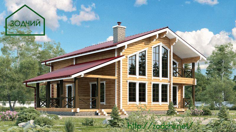 Дом из бруса 1013 Площадь: 187 м2