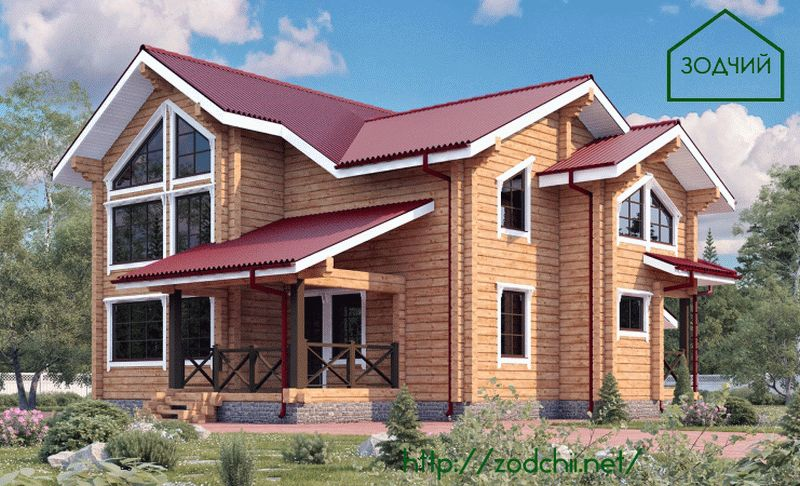 Дом из бруса 1014 Площадь: 187 м2
