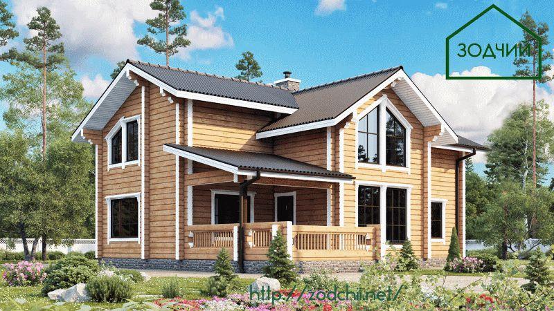Дом из бруса 1015 Площадь: 191 м2