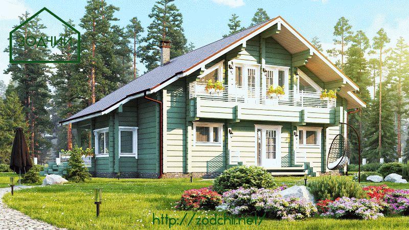 Дом из бруса 1017 Площадь: 200 м2