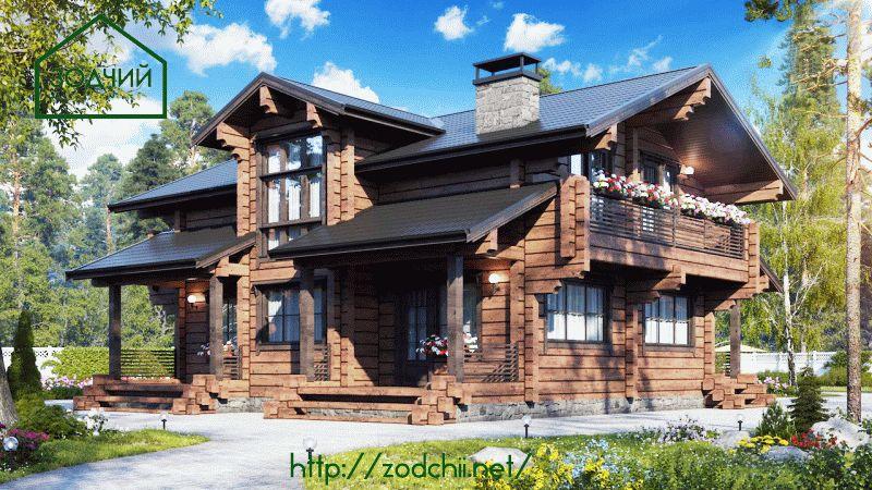 Дом из бруса 1018 Площадь: 204 м2