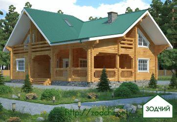 Дом из бруса 1022 Площадь: 245 м2