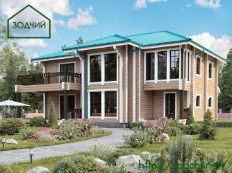 Дом из бруса 1024 Площадь: 256 м2