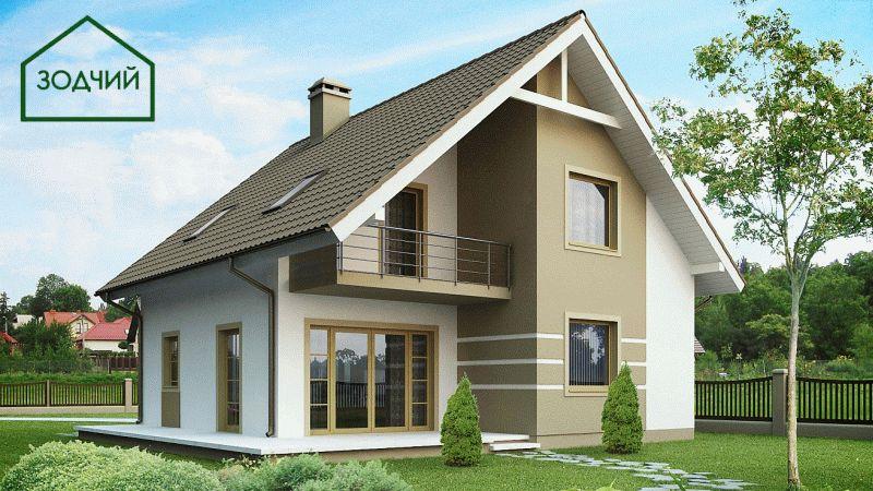 Дом из кирпича 2003 Площадь: 130 м2