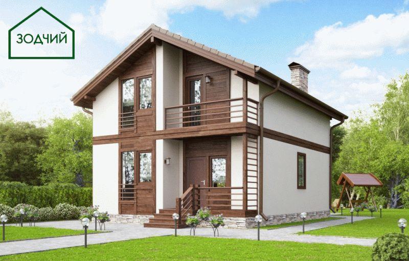 Дом из кирпича 2007 Площадь: 154 м2