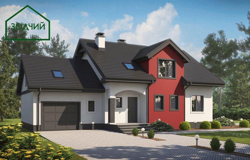Дом из кирпича 2021 Площадь: 233 м2