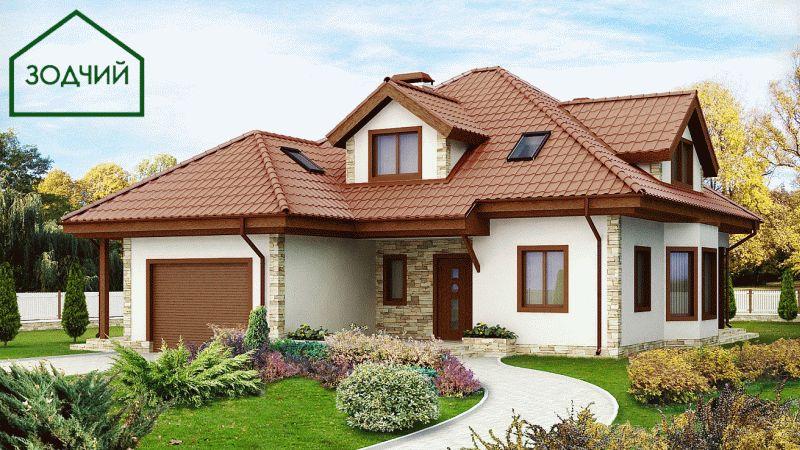 Дом из кирпича 2022 Площадь: 242 м2