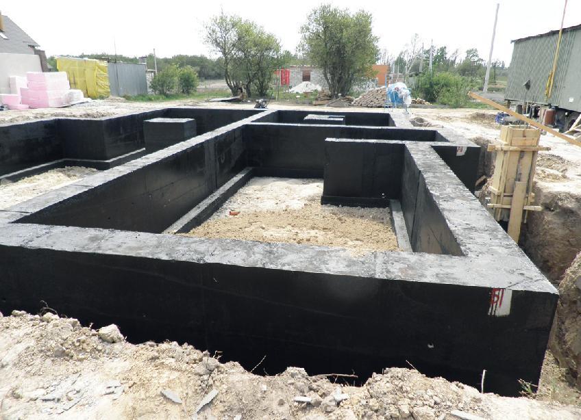 Ленточный фундамент для дома Площадь: м2