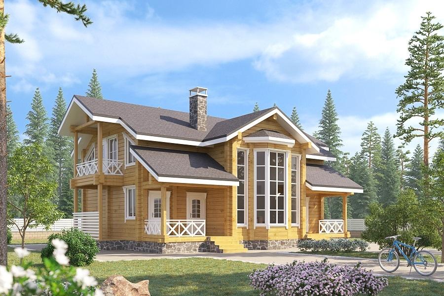 Дом из бруса БД-14 Площадь: 260 м2