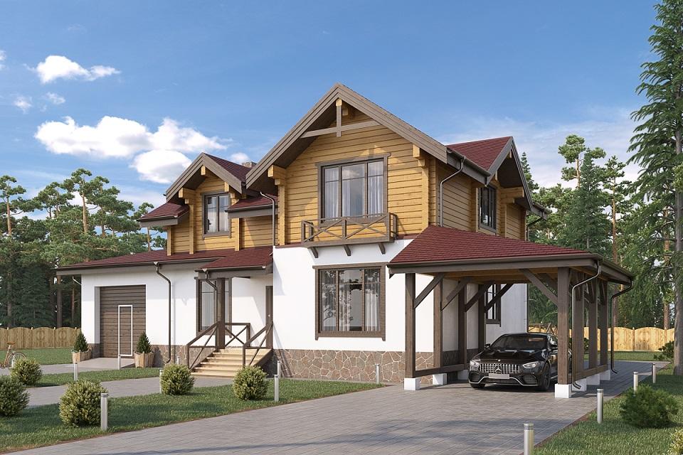 Дом из бруса КДД-3 Площадь: 206 м2